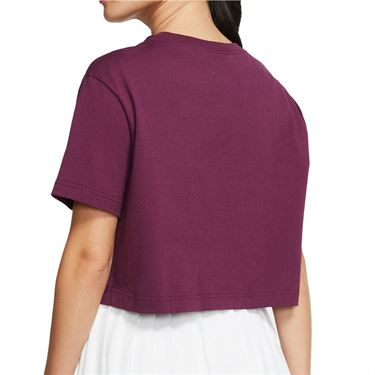 Nike Court Tee Shirt Womens Bordeaux CJ0669 609