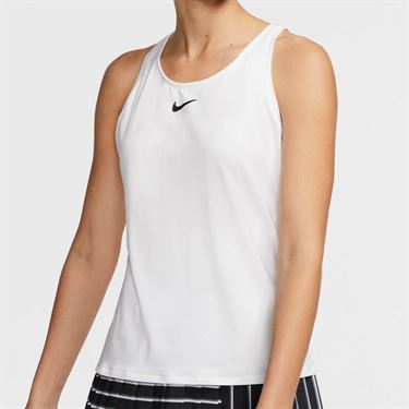 Nike Court Dri Fit Tank Womens White/Black CJ0942 100