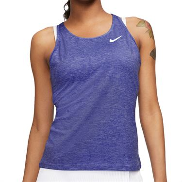 Nike Court Dri Fit Tank Womens Rush Violet/White CJ0942 554
