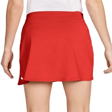Nike Court Dri Fit Skirt Womens Habanero Red/White CJ0944 634