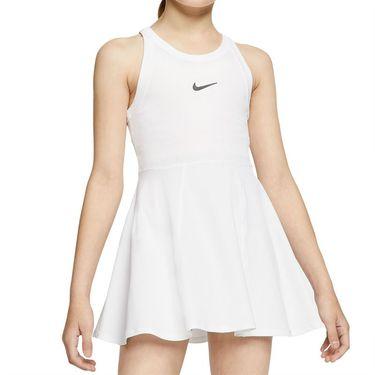 Nike Girls Court Dri Fit Dress White/Black CJ0947 100