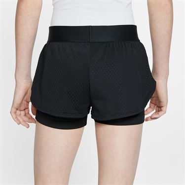 Nike Girls Court Flex Short Black/White CJ0948 010
