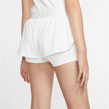 Nike Girls Court Flex Short White/Black CJ0948 100
