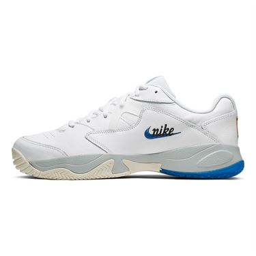 Nike Court Lite 2 Premium Mens Tennis Shoe White/Game Royal/Sail/Pure Platinum CJ6781 104