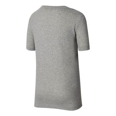 Nike Boys Court Short Sleeve Graphic Tee - Dark Grey Heather/Volt