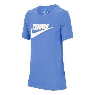 Nike Boys Court Dri Fit Graphic Tee Shirt Royal Pulse/White CJ7758 478