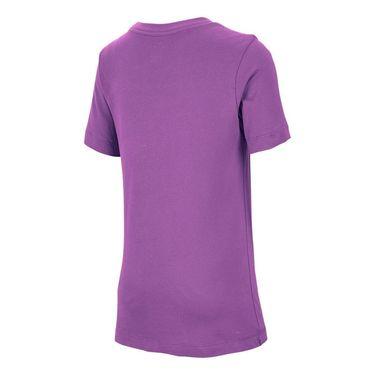 Nike Boys Court Dri Fit Graphic Tee Shirt Purple Nebula/White CJ7758 532