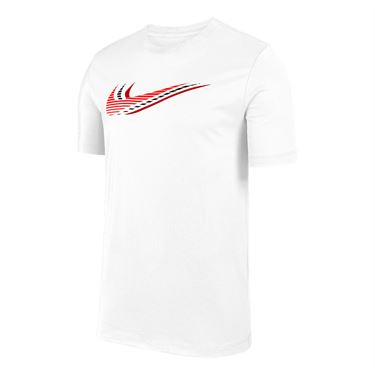 Nike Sportswear Tee Shirt Mens White/University Red CK4278 100