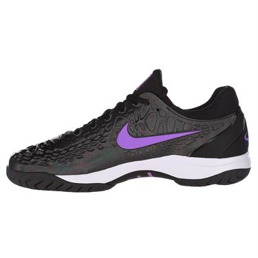 Nike Air Zoom Cage 3 Mens Tennis Shoe - Black/Bright Violet/Multi Color