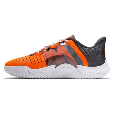Nike Court Air Zoom GP Turbo Mens Tennis Shoe - Dark Grey/Orange