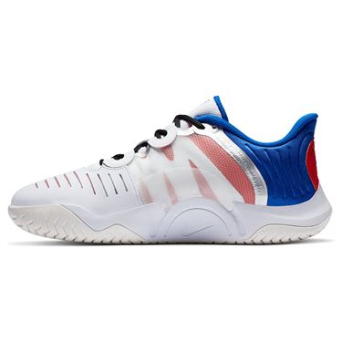 Nike Court Air Zoom GP Turbo Mens Tennis Shoe White/Black/Racer Blue/Light Crimson CK7513 100