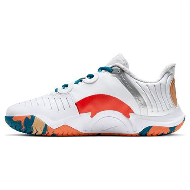 Nike Court Air Zoom GP Turbo Mens Tennis White/Orange Team/Green Abyss/Praline CK7513 104