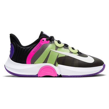 Nike Court Air Zoom GP Turbo Womens Tennis Shoe Black/White/Fierce Purple/Liquid Lime CK7580 002
