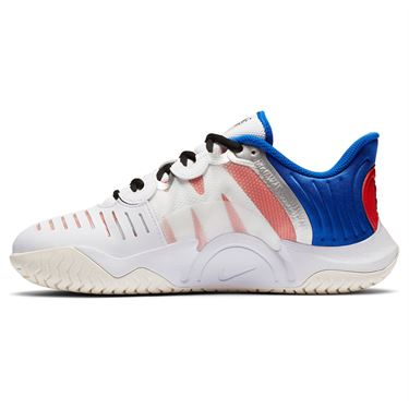 Nike Court Air Zoom GP Turbo Womens Tennis Shoe White/Black/Racer Blue/Light Crimson CK7580 100