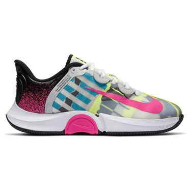 Nike Court Air Zoom GP Turbo Womens Tennis Shoe White/Laser Fuchsia/Sapphire/Hot Lime CK7580 101