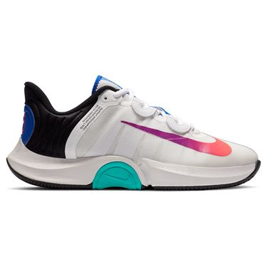 Nike Court Air Zoom GP Turbo Womens Tennis Shoe Summit White/Black/Electro Green CK7580 112