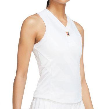 Nike Court Dri Fit Slam Tank Womens White CK8285 100