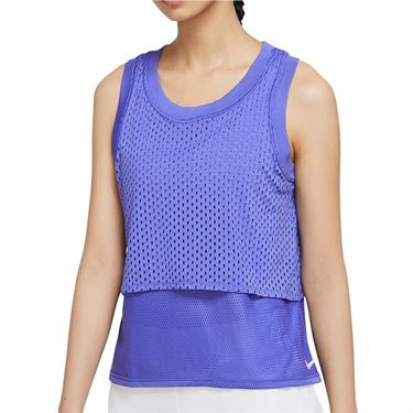 Nike Court Dri Fit Tank Womens Rush Violet/White CK8290 554