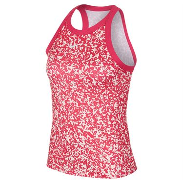 Nike Court Dri Fit Tank Womens Vivid Pink/White CK8352 616