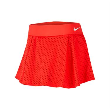 Nike Court Dri Fit Skirt Womens Habanero Red/White CK8397 634