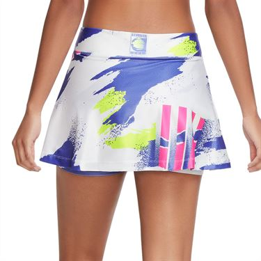Nike Court NYC Slam Skirt - White/Sapphire/Hot Lime/Pink Foil