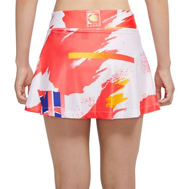 Nike Court Slam Skirt Womens White/Solar Red/Citrus CK8422 101