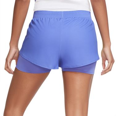 Nike Court Slam Short Womens Sapphire/Hot Lime CK8430 500