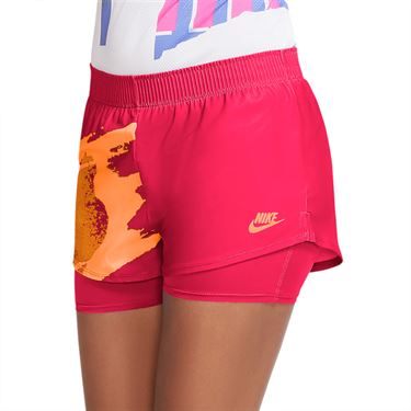 Nike Court Slam Short Womens Solar Red/Citrus CK8430 645