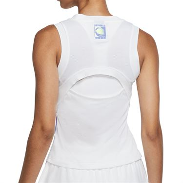 Nike Court NYC Slam Tank - White/Hot Lime