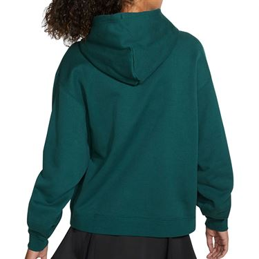 Nike Court Heritage Hoodie Womens Dark Atomic Teal/White CK8447 300