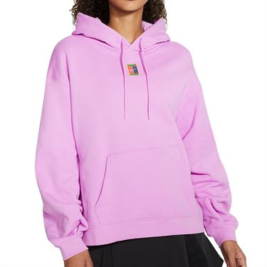 Nike Court Heritage Hoodie Womens Beyond Pink/White CK8447 680
