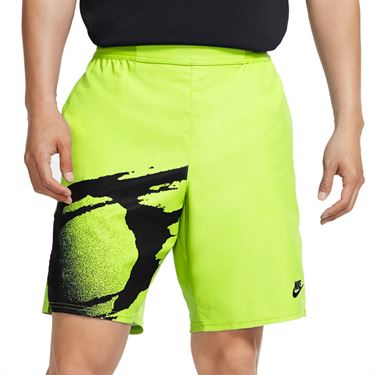Nike Challenge Court Slam Short - Hot Lime/Black