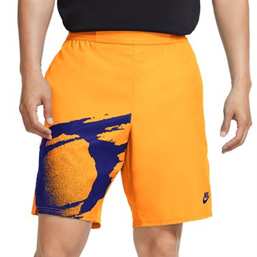 Nike Challenge Court Slam Short - Citrus/Ultra Marine