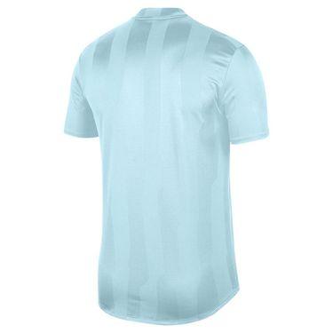 Nike Court Dry Polo Blade Print - Topaz Mist/White