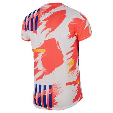 Nike Court Challenger Crew Shirt Mens White/Solar Red/Citrus/Ultra Marine CK9797 100