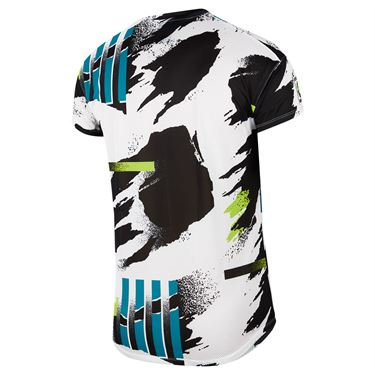 Nike Court Challenger Crew - White/Black/Hot Lime/Neo Teal