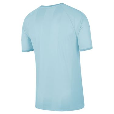 Nike Court Breathe Slam Crew Shirt Mens Topaz Mist/White CK9799 449