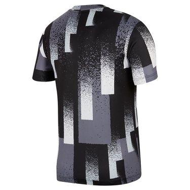 Nike Court Dri Fit Crew Shirt Mens Black/White CK9820 010