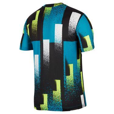 Nike Court Dri Fit Crew Shirt Mens Topaz Mist/White CK9820 449