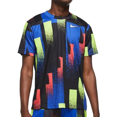 Nike Court Dri Fit Crew Shirt Mens Multi CK9820 451