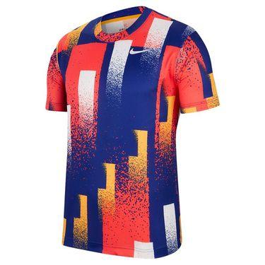 Nike Court Dri Fit Crew Shirt Mens Sundial/White CK9820 717