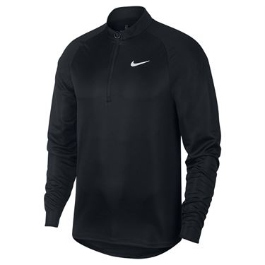 Nike Court Challenger 1/2 Zip Pullover Mens Black/White CK9822 010