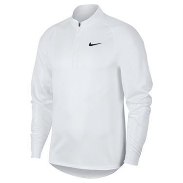 Nike Court Challenger 1/2 Zip Pullover Mens White/Black CK9822 100