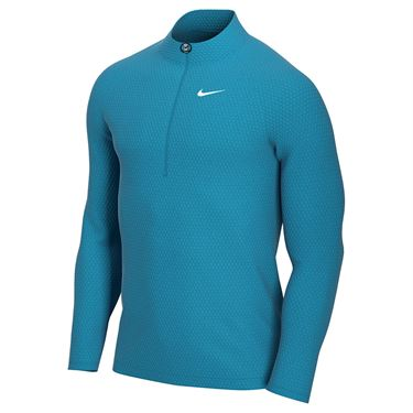 Nike Court Challenger 1/2 Zip Pullover Mens Neo Turquoise/White CK9822 425