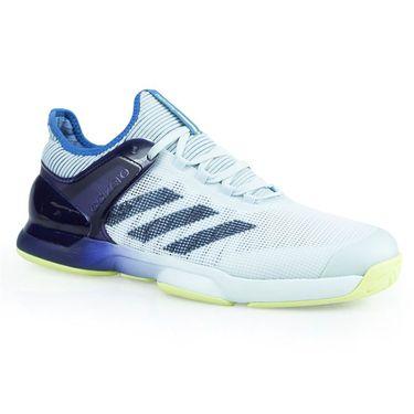 adidas adizero Ubersonic 2 Mens Tennis Shoe - Blue Tint/Noble Ink/Semi Frozen Yellow