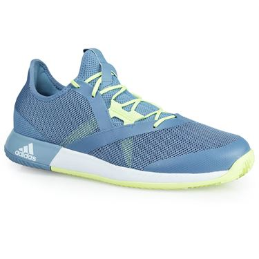 adidas adizero Defiant Bounce Mens Tennis Shoe - Raw Grey/White/Semi Frozen Yellow