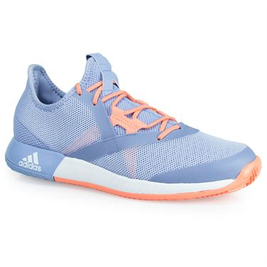 adidas adizero Defiant Bounce Womens Tennis Shoe - Chalk Blue/White/Chalk Coral