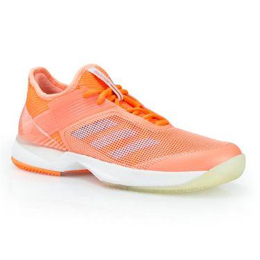 adidas adizero Ubersonic 3 Womens Tennis Shoe - Chalk Coral/Aero Blue/Orange