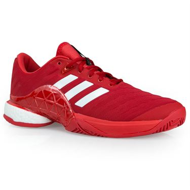 adidas Barricade 2018 Boost Mens Tennis Shoe - Scarlet/ White/ Scarlet CM7830