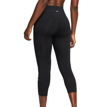 Nike Epic Lux Crop Legging Womens Black/Reflective Silver CN8043 010